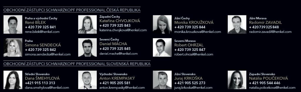 Obchodní zástupci Schwarzkopf Professional